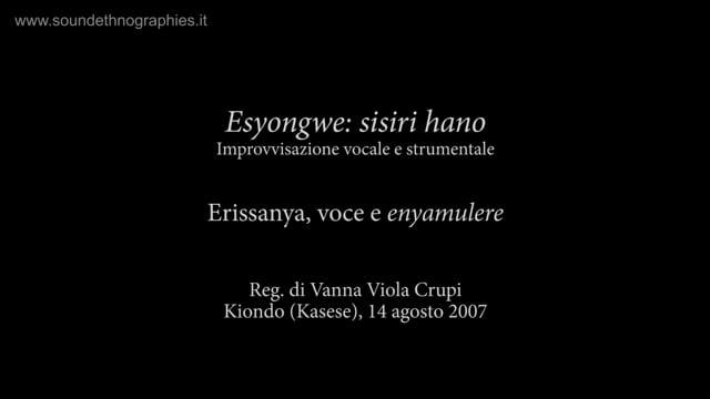 1 – Esyongwe: sisiri hano