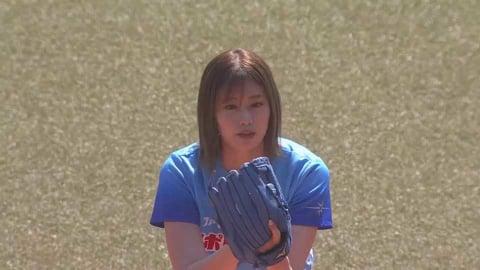 「神スイング」でお馴染みのタレント・稲村亜美さんが3年ぶりの始球式!! 2021/5/23 M-E