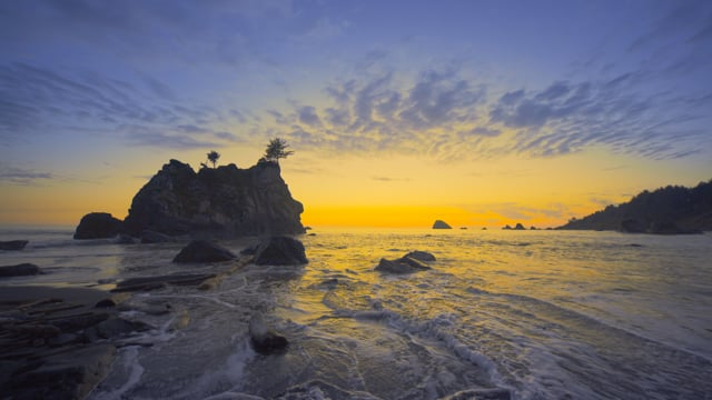 Spectacular Sunset Nature Scenery at Ruby Beach. Part 1