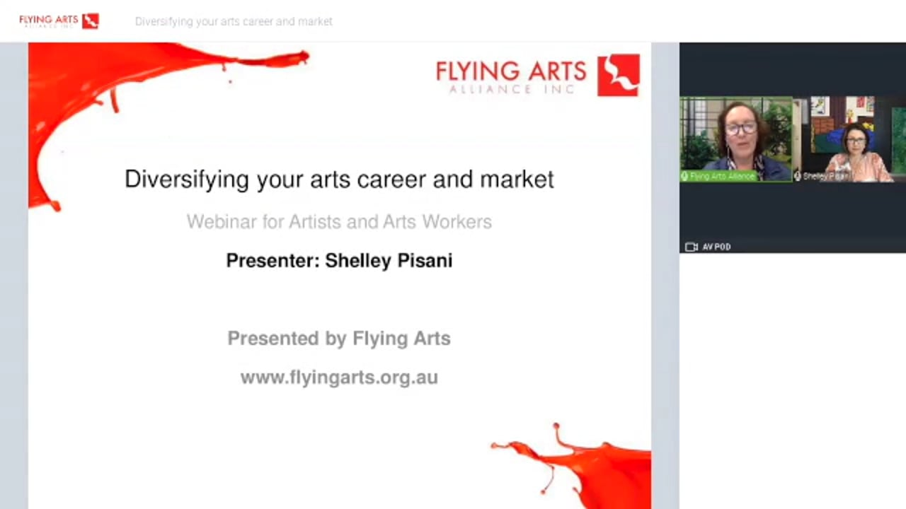 Diversifying your arts career and market with Shelley Pisani