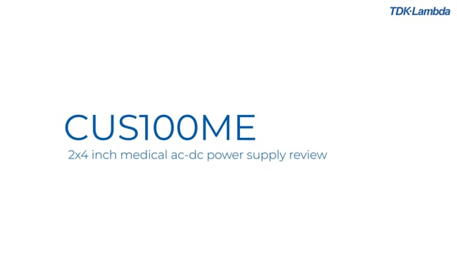 What are the key features of the CUS100ME medical ac-dc power supplies?