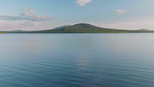 Relaxing Sunset over Zyuratkul Lake, Russia