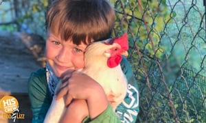 Tina and Lori say they LOVE to snuggle chickens!