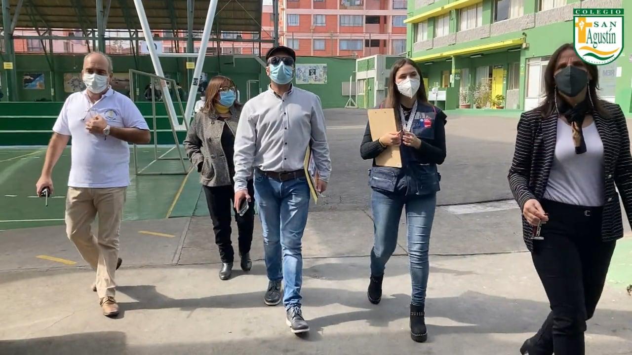 Colegio San Agustín: Visita Autoridades, Ministerio de Salud Antofagasta.