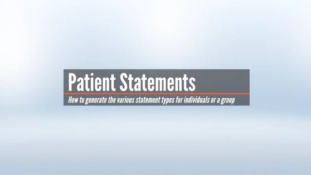 Patient Statements