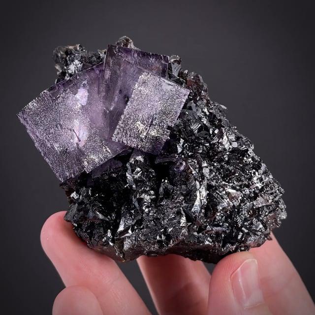 Fluorite on Sphalerite