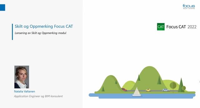 Lanseringsseminar 2021 Veg: Focus CAT Skilt og Oppmerking – Lansering