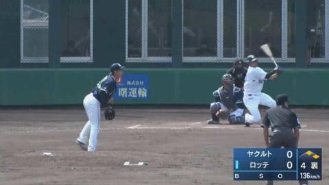 【ファーム】マリーンズ・松田 レフト線へ先制の2点タイムリー2ベースヒットを放つ!! 2021/5/30 M-S(ファーム)