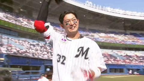 【4回裏】マリーンズ・佐藤 今季第1号ホームランで追加点!! 2021/5/30 M-C