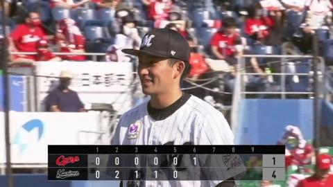 【6回表】マリーンズ・小島 2勝目に向けて6回1失点の好投!! 2021/5/30 M-C