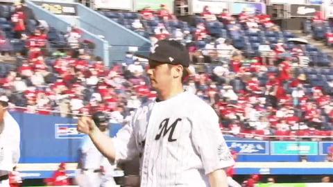 【7回表】わずか8球!! マリーンズ・小野 1イニングを3者凡退に抑える!! 2021/5/30 M-C