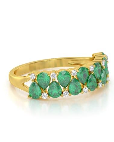 Vídeo: Anillo de Oro Esmeraldas y diamantes 2.29grs