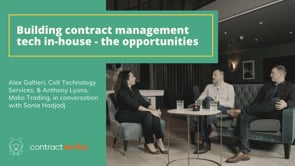 Building contract management tech in-house - the opportunities