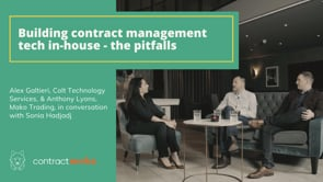 Building contract management tech in-house - pitfalls to avoid