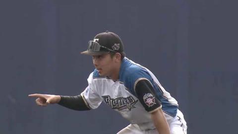 【ファーム】ファイターズ・上野 難しい打球を後ろ向きキャッチ!! 2021/6/3 F-G(ファーム)