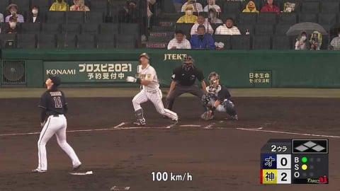 【2回裏】バファローズ・山崎福 虎の若き怪物に手痛いホームランを浴びる 2021/6/3 T-B