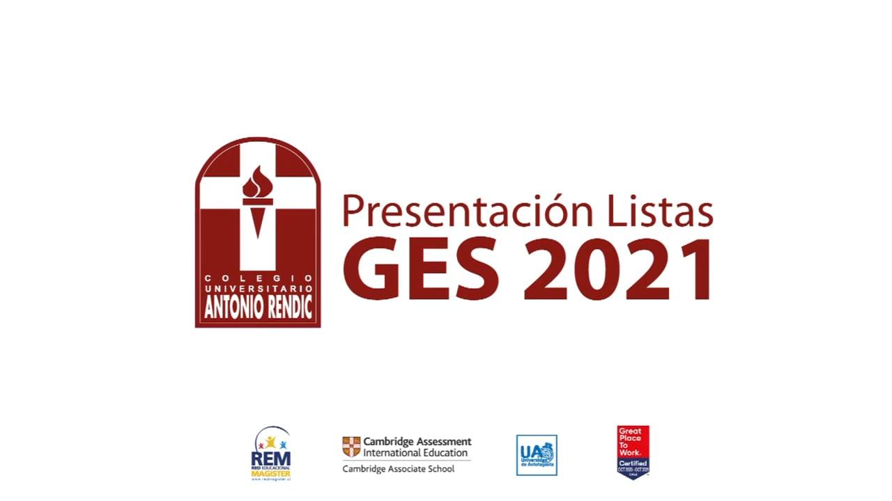 Colegio Universitario Antonio Rendic: Presentación listas GES 2021.