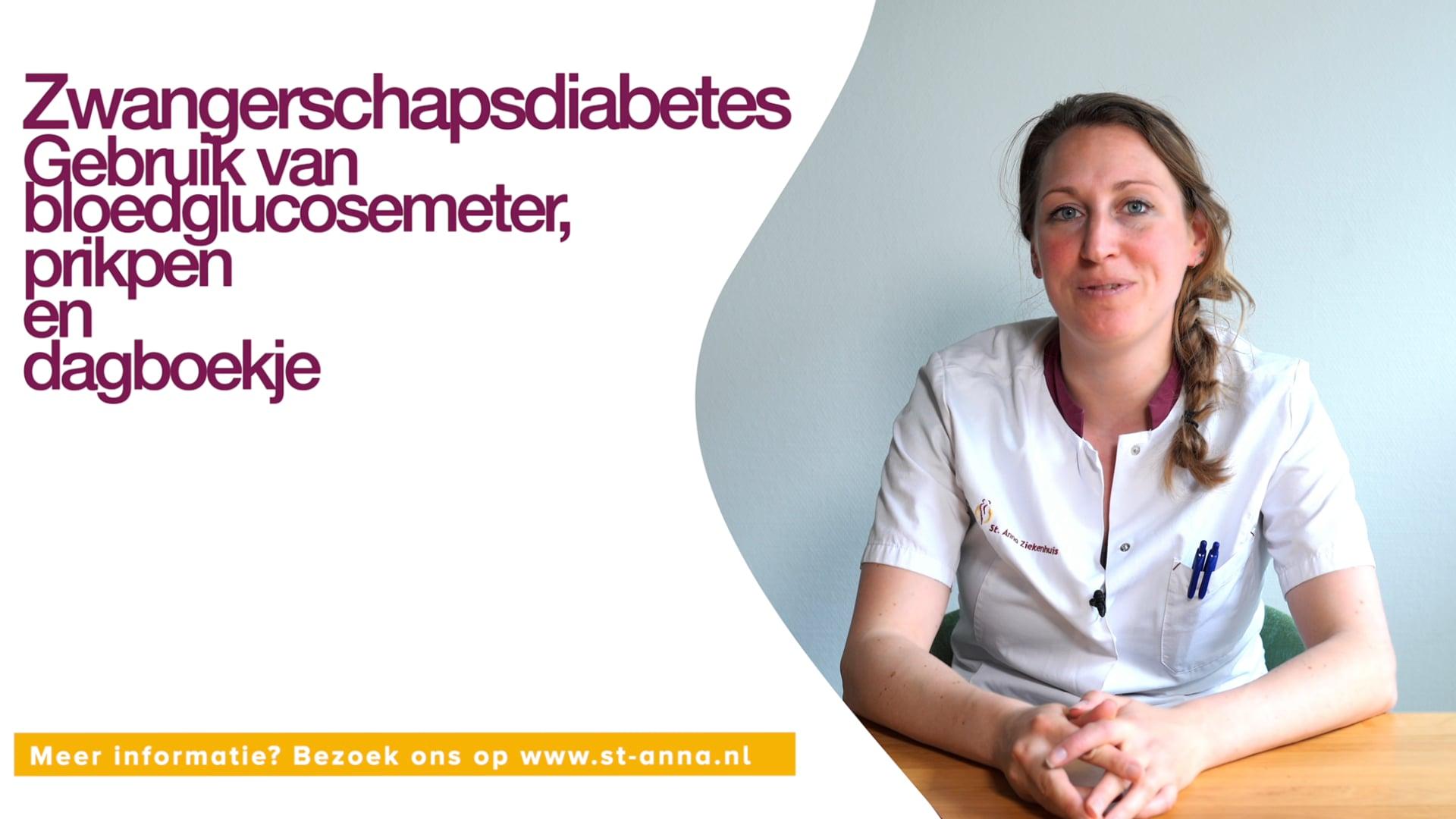 St. Annaziekenhuis - Zwangerschap diabetes | Gebruik van bloedgluscosemeter, prikben en dagboek