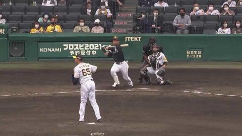 【8回表】連敗ストップへ!! ホークス・長谷川 相手を突き放す代打2点タイムリー!! 2021/6/5 T-H