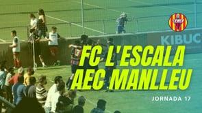 Resum FC l'Escala 2-1 AEC Manlleu