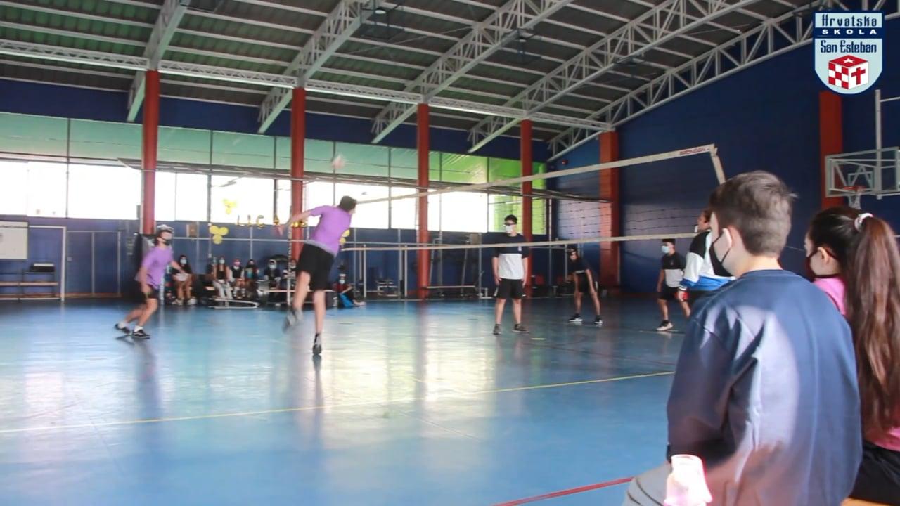 Inauguración liga GES Voleibol; Departamento de Educación Física; Colegio San Esteban.