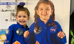 Astro Liz is only 7, but she'll be part of the next trip to the moon!