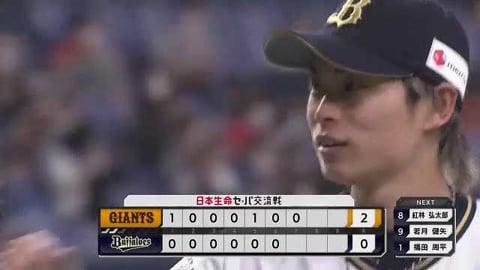 【7回表】バファローズ・山岡 プロ入り後自己最多の1試合12奪三振を記録する好投!! 2021/6/8 B-G