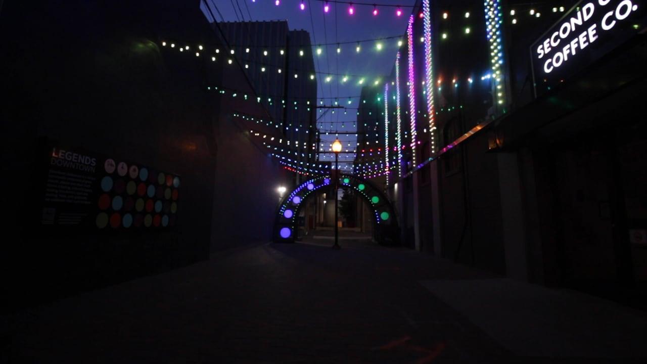Aurora Alleyway In Legends Downtown - Saskatoon | Limbic Media