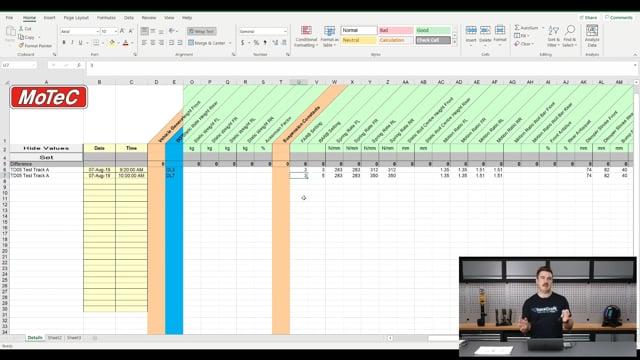 284 | Using Digital Setup Sheets with Logged Data