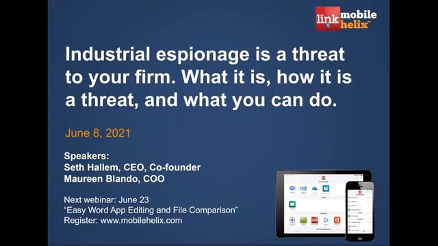 Industrial Espionage Threat to Law Firms 2021-06-08 40:15