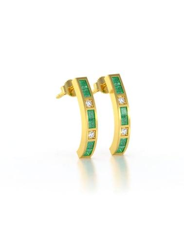 Video: Orecchini in Oro 14K Smeraldo Diamanti