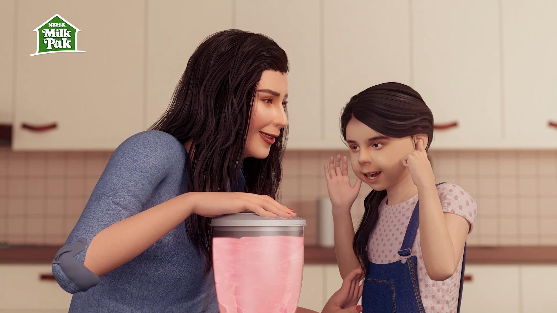 Nestle MilkPak A2 - 3D Animatics