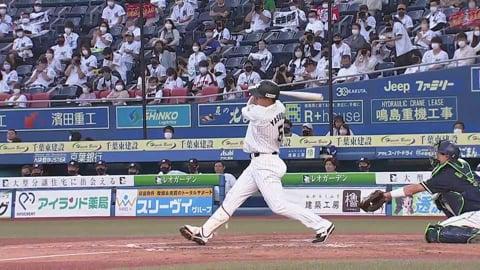 【2回裏】マリーンズ・安田が1点差に詰め寄るタイムリーヒットを放つ!! 2021/6/9 M-S