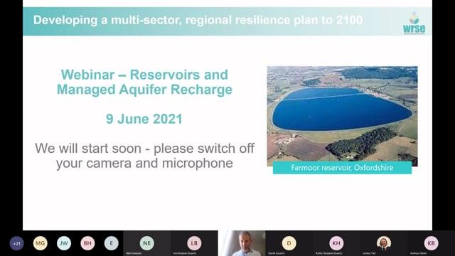 WRSE Webinar on Reservoirs and managed aquifer storage -(includes SESRO and SLR)