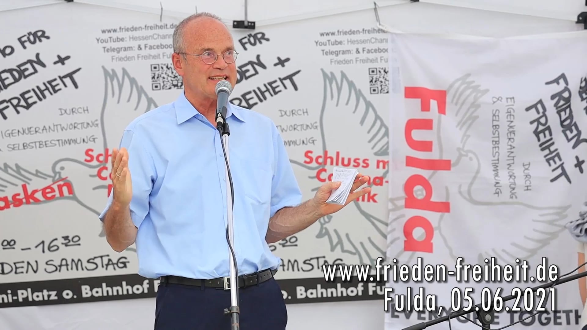 Demo für Frieden und Freiheit Fulda:Dr Daniel Langhans