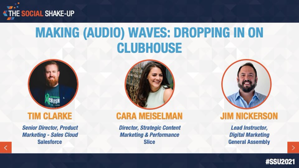 Making (Audio) Waves: Dropping in on Clubhouse