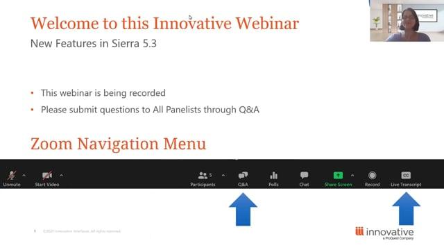 Webinar: New Features in Sierra 5.3