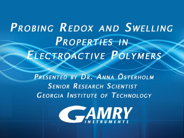 Probing Redox and Swelling Properties in Electroactive Polymers