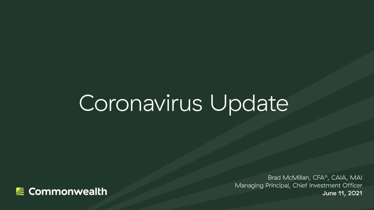 Coronavirus Update from Commonwealth CIO Brad McMillan, June 11, 2021