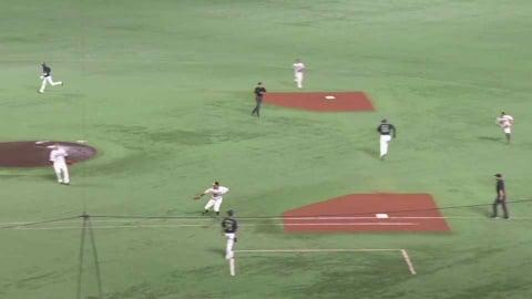 【6回表】ホークス・中村晃 満塁のピンチを救うファインプレー!! 2021/6/11 H-S