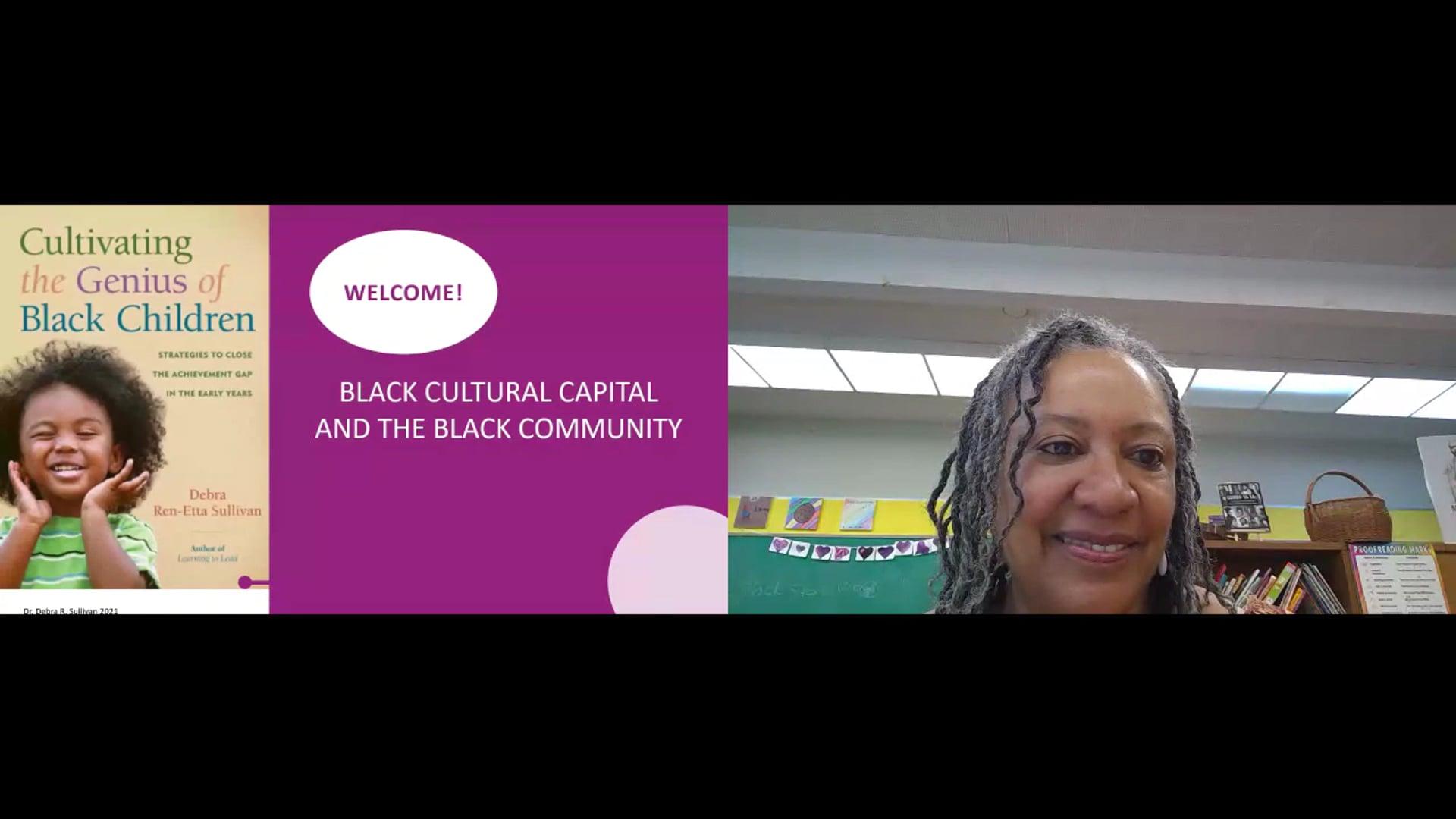 Black Cultural Capital and the Black Community