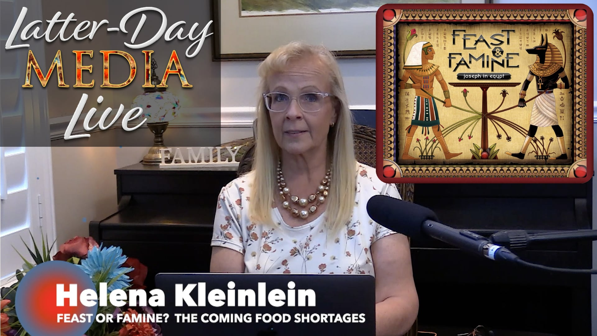 Latter-Day Media Live - Helena Kleinlein - Feast or Famine? The Coming Food Shortages (Lakeview 4th Ward)