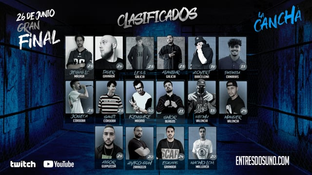 Los finalistas de La Cancha