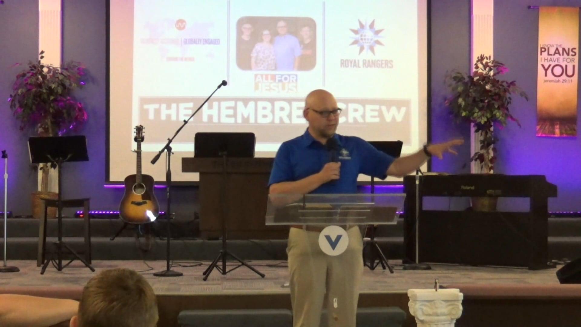 Guest Speaker Jeremiah Hembree