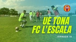 Resum UE Tona 5 - 2 FC l'Escala
