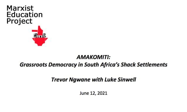 Amakomiti: Grassroots Democracy in South African Shack Settlements