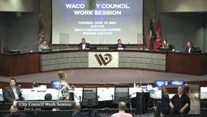Work Session June 15, 2021