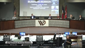 Business Session June 15, 2021
