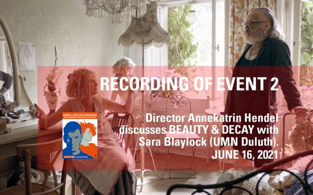 Discussion with Director Annekatrin Hendel