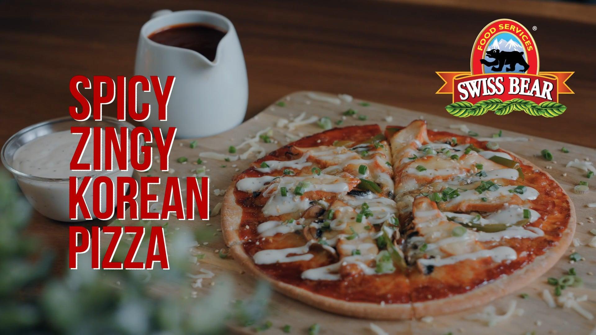 Swiss Bear: Spicy Zingy Korean Pizza